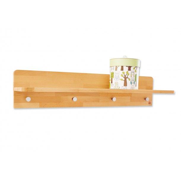Topnotch Pinolino Vegghengt hylle med knagger, Fagus - Vegghengte hyller NE-68