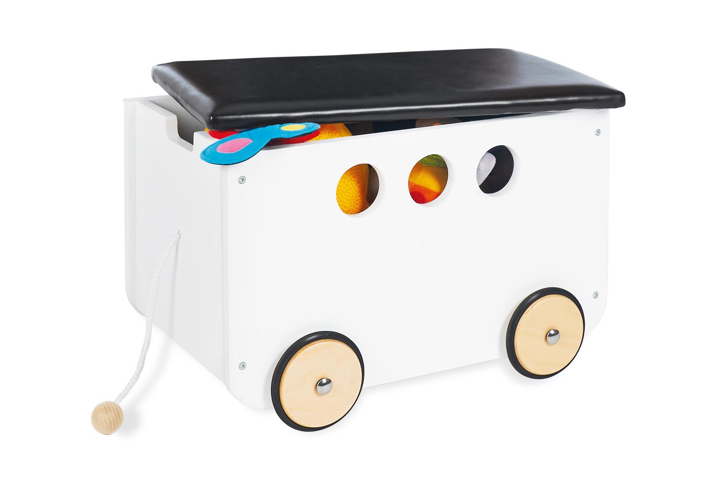 Picture of: Pinolino Opbevaringsbaenk Med Hjul Jim Hvid Opbevaringsbokse Firkantet Import For Kids Aps