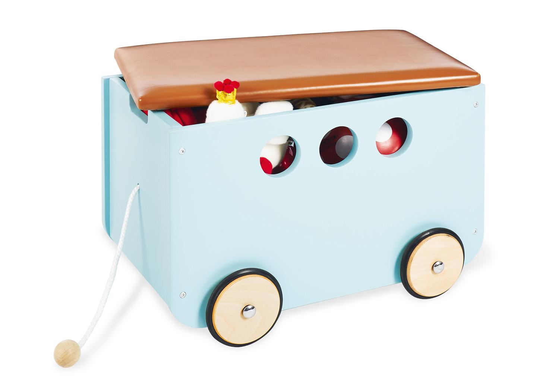 Picture of: Pinolino Opbevaringsbaenk Med Hjul Jim Mint Opbevaringsbokse Firkantet Import For Kids Aps